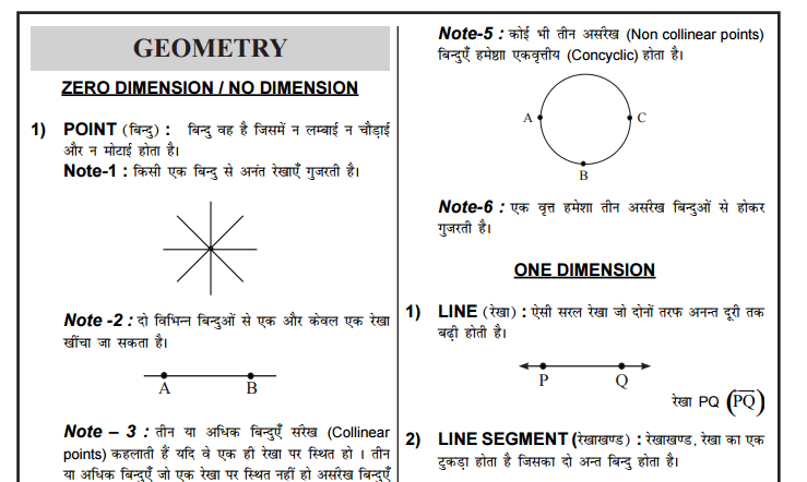 Complete Geometry Notes in Hindi | Download PDF 1