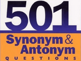 501 Synonyms & Antonyms Questions for Competitive Exams 1